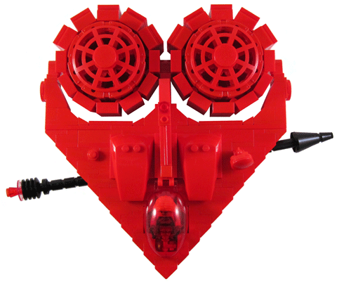 Let's Celebrate! | Send Your Love Some Geek Affection With This Lego Valentines Spaceship