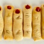 what vampires eat, halloween snacks, breakstick fingers, creepy party food,