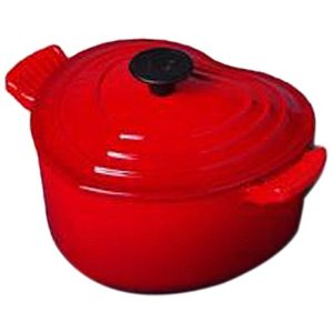 Le Creuset, cooking, Valentine's Day, heart, love, red, cast iron