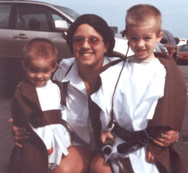 Michelle McCrary and her Jedi Tots