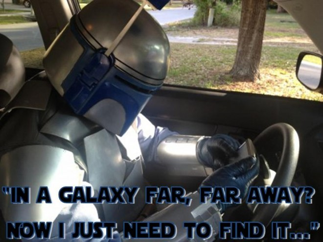 Jango Fett in a car