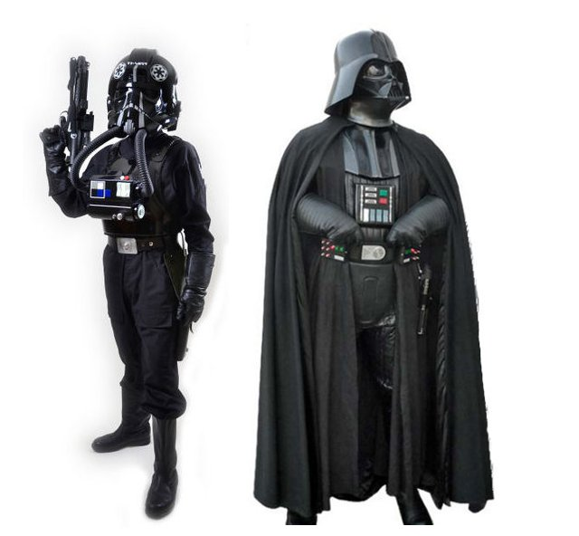 (Left) Tie Pilot   (Right) Darth Vader / Images: 501st Legion