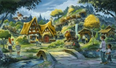 Seven Dwarfs Mine artist rendering Image courtesy of the Walt Disney Company
