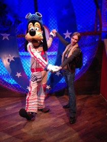 We had the Disney characters all to ourselves the first night.  Image: Dakster Sullivan