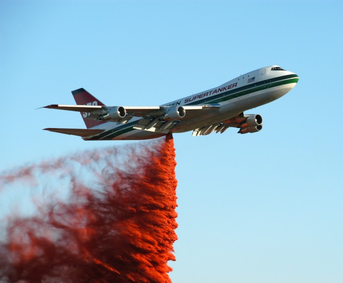 Supertanker, a 747-100 modified by Evergreen Aviation of Oregon