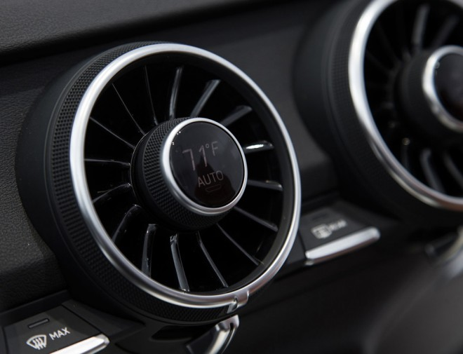 Climate controls and temperature read-outs are exactly where they should be: in the vents. Photo: Audi