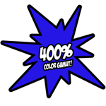 400% color gamut!
