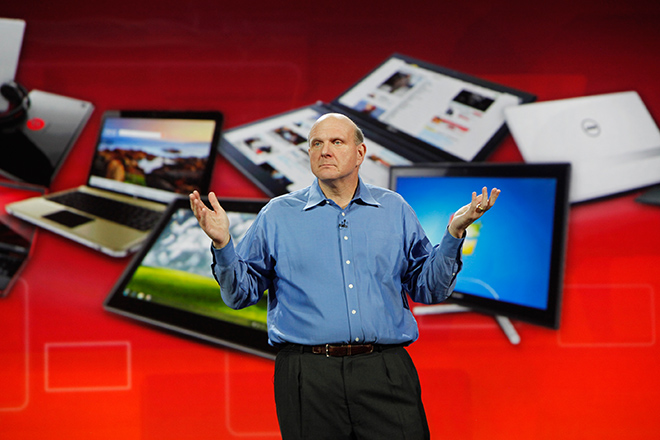 Steve Ballmer. photo by Jon Snyder/Wired.com