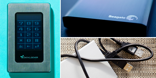External hard drives are one place to back up your data.