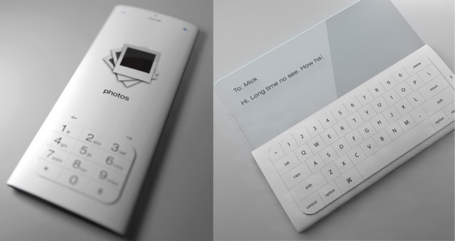 E Ink Phone Concept Simple White Email WIRED
