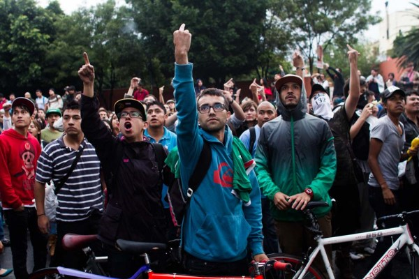 Tens Of Thousands Young People From The Yosoy132 Movement And Other Civil Society Organizations Marched In Mexico City To Protest What They Consider A