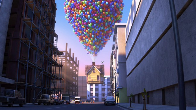 the house from up leaving the 21st century city