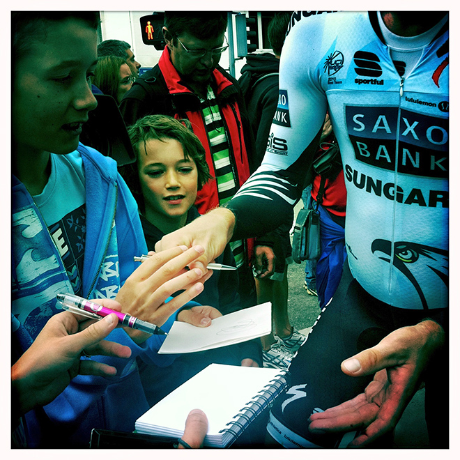 Autograph Hunters at the Tour de France