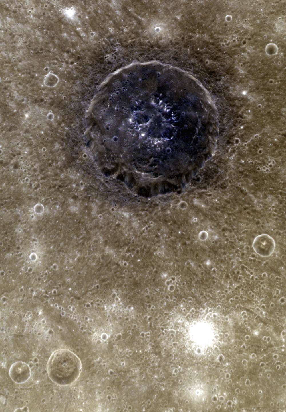 Color Crater on Mercury