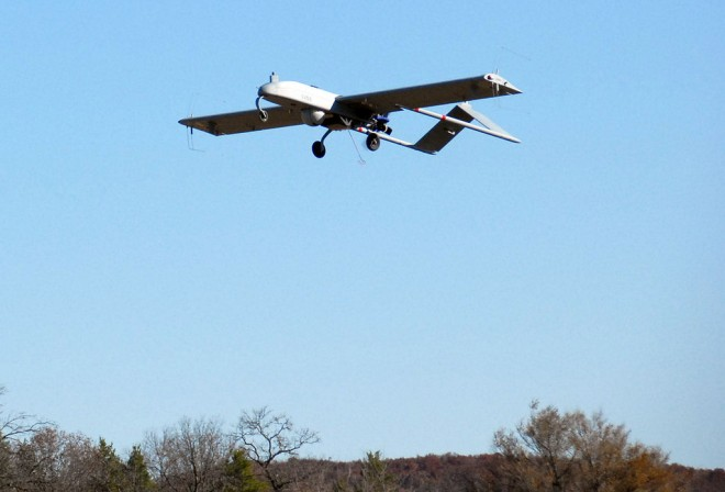 The RQ-7 UAV will be fitted with equipment to increase connectivity in remote areas. Photo: Wisconsin National Guard