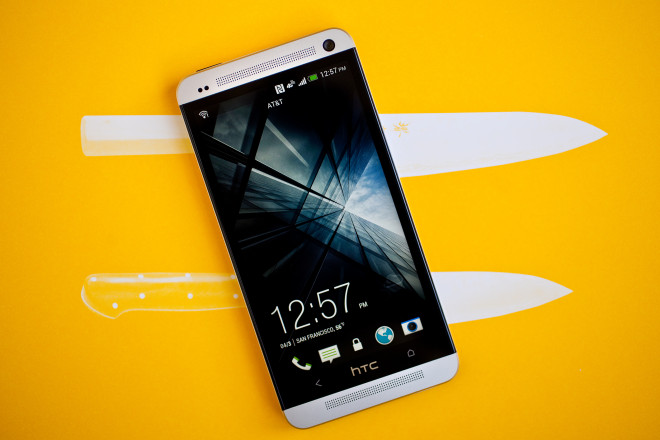 One of the vulnerable phones: the HTC One M7.