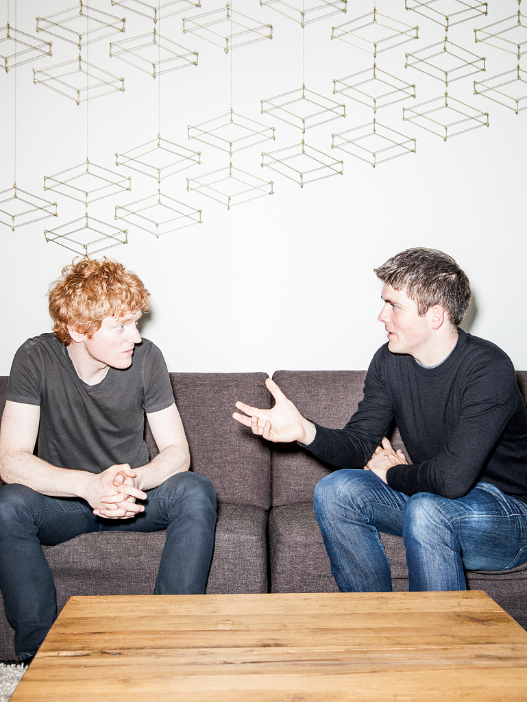 Brothers Patrick (left) and John Collison, co-founders of Stripe.