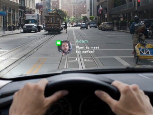 The Navdy head-up display syncs with smartphones and projects information onto any car's windshield.