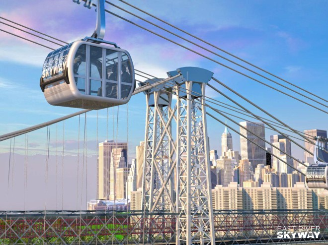 Gondola's would provide an unusual, terrific view of the city.