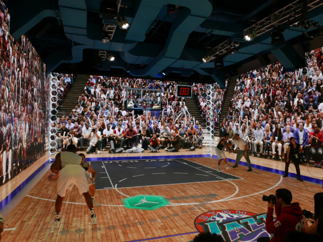 This Immersive Michael Jordan Simulator Is the World's Coolest Basketball Court