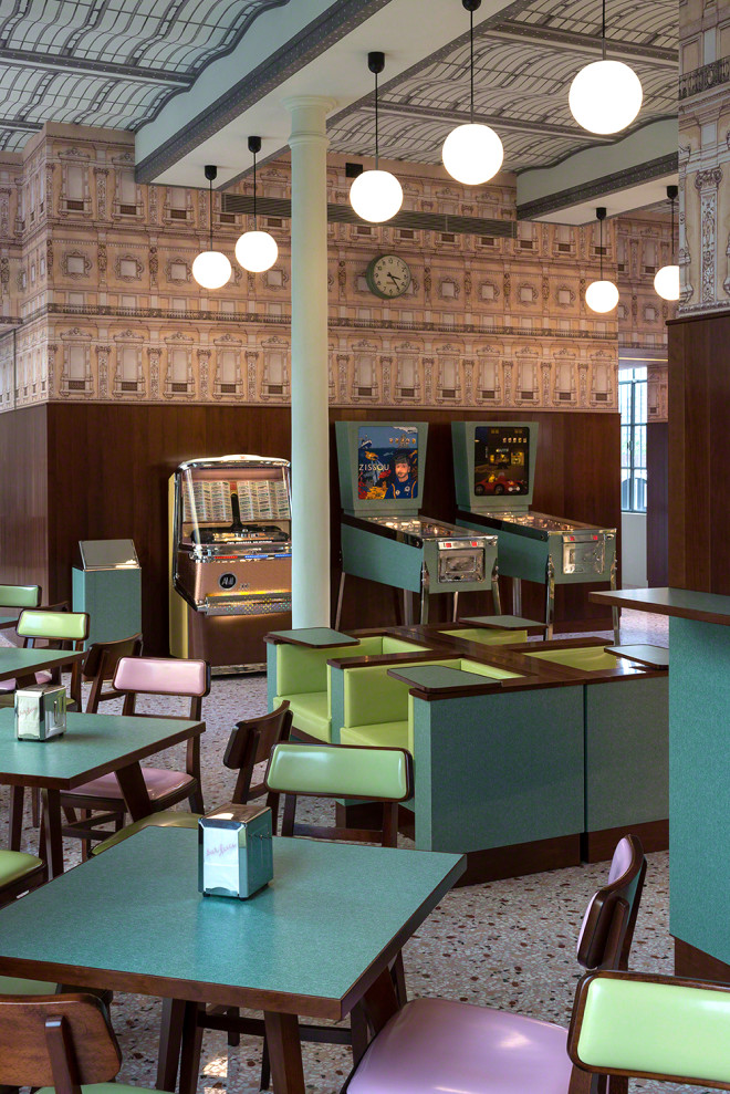 Kitschy Bar Designed by Wes Anderson Is Kitschy as Hell