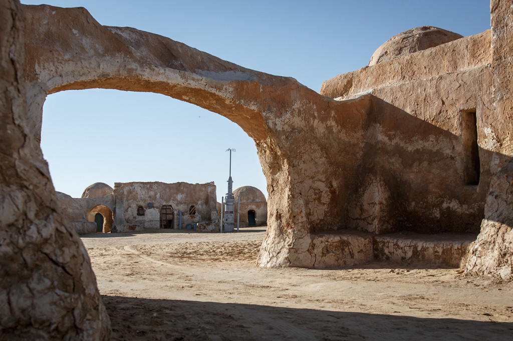 Not a Jawa or Tusken Raider in sight at the Mos Espa set, near Ong Jemel, Tunisia
