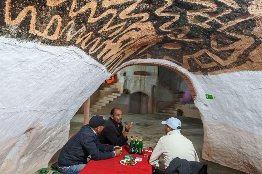 The Lars dining room. Hotel Sidi Driss, Matmata, Tunisia.