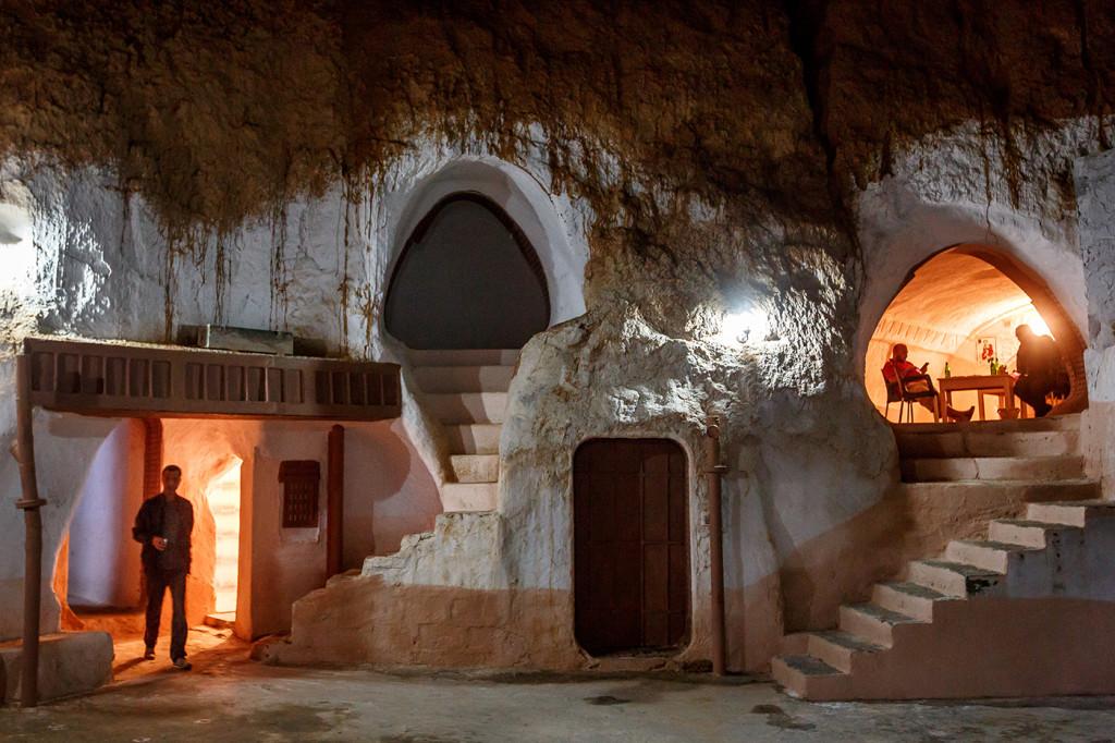 Night fall at the Hotel Sidi Driss. Matmata, Tunisia