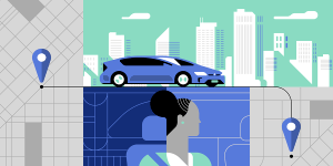 New mid-century modern illustrations are part of Uber's new brand.