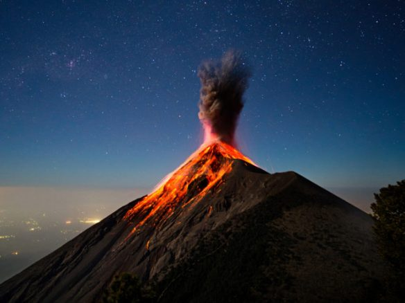 Central American Volcanoes Let Out Spectacular Eruptions