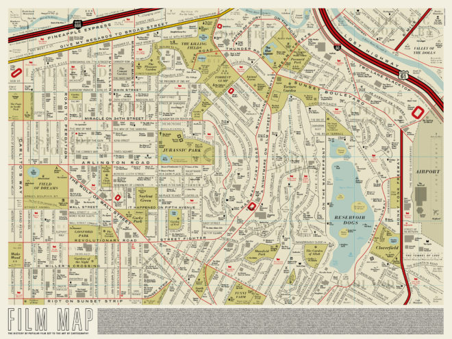 Mesmerizing Map Renames LA Streets After Your Favorite Films