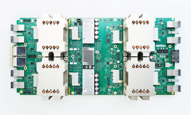 A TPU board from above.