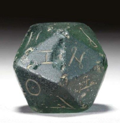 Image result for ancient roman 20 sided die