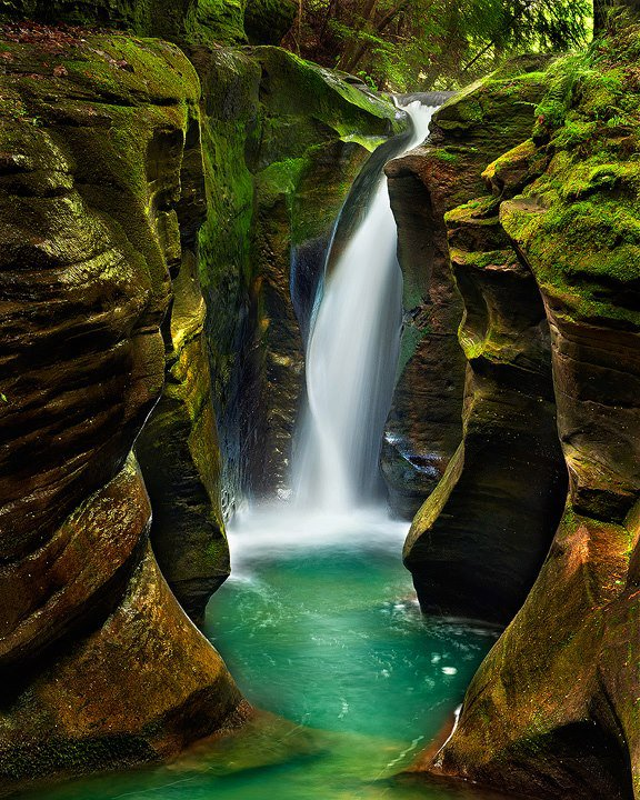 Corkscrew Falls – Hocking Hills State Park – Ohio, USA Photo by Steve Perry