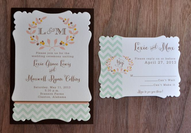 Mounted Wedding Invitations Victoria