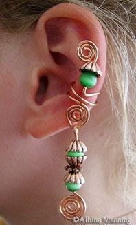 Dangle Ear Cuff Pattern By Albina Manning