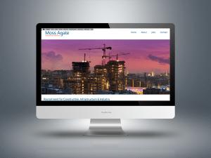 A screen shot of the Moss Agate website.