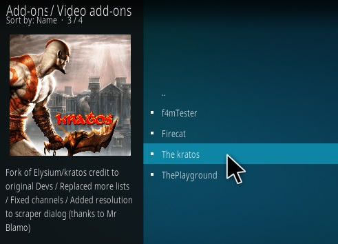 How To Install Kratos Kodi Addon Step 18