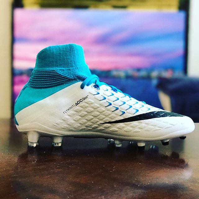 The latest footwear for my baller. #bermuda #football #postseason #nike