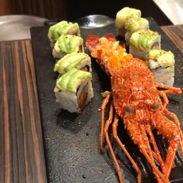 Another look at an amazing creation. Sushi and mini lobster! .....#travel #traveling #socialenvy  #vacation #visiting #instatravel #instago #instagood #trip #holiday #photooftheday #fun #travelling #tourism #tourist #instapassport #instatraveling #mytravelgram #travelgram #travelingram #igtravel  #ForeverBermuda #GoToBermuda #Bernews #BermudaDreaming #Paradise #photography