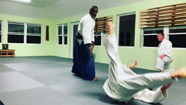 """Sensei Collins Smith, founder of Bermuda Aikikai teaches """"irimi nage"""" an entering throw also know as the """"20 year technique"""" as it can take that long for some of us to understand the meaning and the many variants of it. One of our favorites and important basics."""