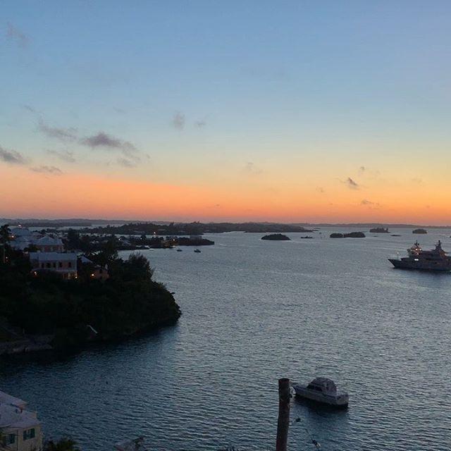 Sunset Bermuda style. Happy weekend all.