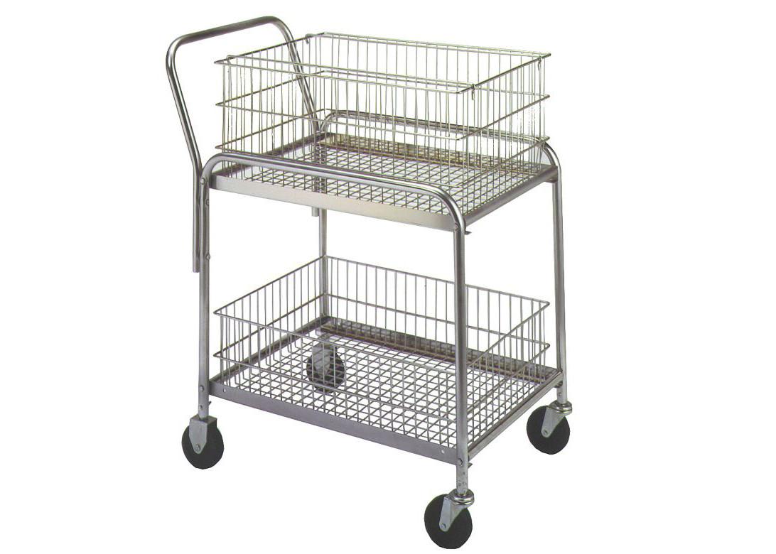 33 L X 20 W X 37 1 2 Rolling Mail Cart 200 Lb Load