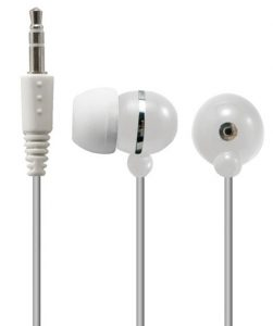 An extremely cheap pair of earbuds if you really want to save money