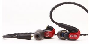 A higher-end pair of earbuds with noise isolating tech