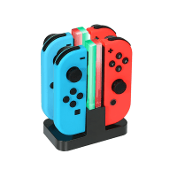 KINGTOP 4 in 1 Ladegerät Nintendo Switch Controller Joy-Con Lade Dock mit LED-Anzeige