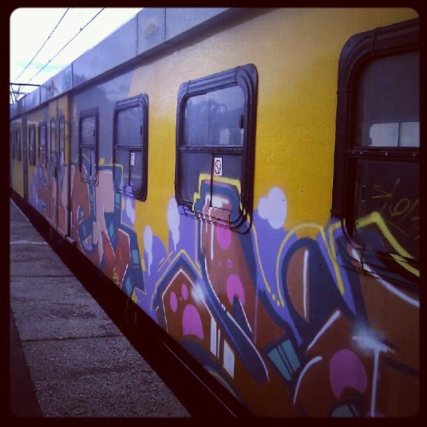 Tren- Arte urbano Woodstock-