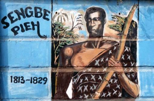 """Sengbe Pieh (Cinqué), Mende líder de la revuelta """"Amistad"""". Fuente: Brand Sierra Leone"""