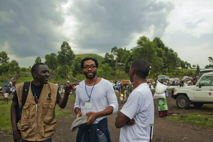 Visita de Chiwetel al campo de refugiados de Goma, Congo. Foto: Francesca Tosarelli/Oxfam.