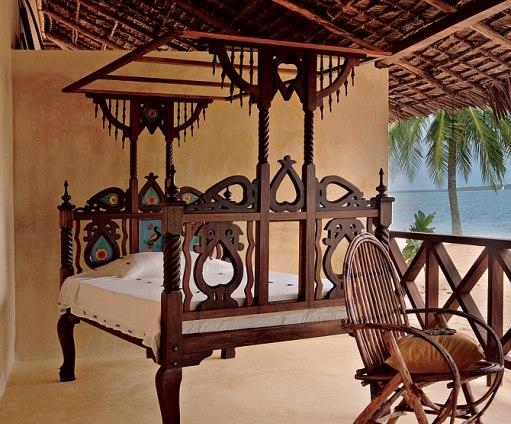 Muestra de una cama de estilo suajili. Fuente: Architectural Digest.